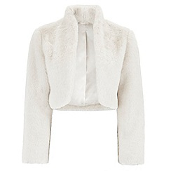 Monsoon - Ivory 'Livia' faux fur jacket