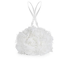 Monsoon - White Lacey rose bouquet bag