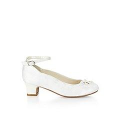 Monsoon - White Lace cutwork pearl cha cha cha shoes