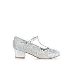 Monsoon - Silver Sparkle t-bar charleston shoes