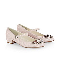 Monsoon - Pink girl's jewelled fabric 'Charleston' shoes