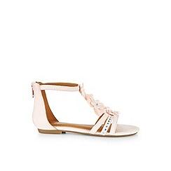 Monsoon - Pink Shimmer strap flower sandals