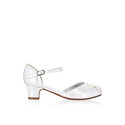 Monsoon - Silver cut out rose 2 part 'Cha cha cha' shoes