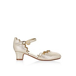 Monsoon - Gold scallop 2 part 'Cha cha cha' shoes