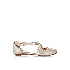Monsoon - Gold shimmer embellished straps ballerina shoes