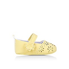 Monsoon - Yellow Baby cutwork bootie shoes