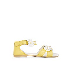 Monsoon - Yellow Baby daisy walker sandals
