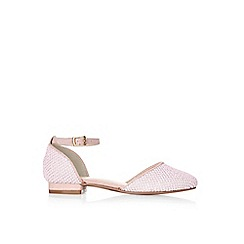 Monsoon - Pink textured 2 part flat shoes