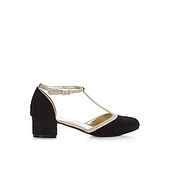 Monsoon - Black vintage t-bar block heel shoes