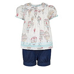 Monsoon - White Baby up up and away top and short set