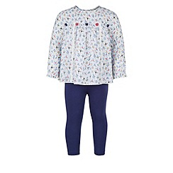 Monsoon - Blue Baby louisa blouse set