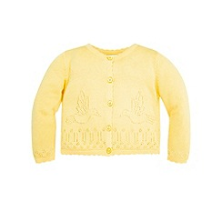 Monsoon - Yellow Baby kirsten cardigan