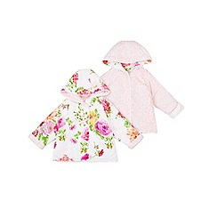 Monsoon - Multicoloured  Newborn rosie spot hooded reversible jacket
