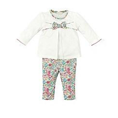 Monsoon - Multicoloured  Newborn elsie bow jersey set