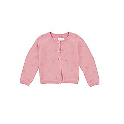 Monsoon - Pink baby 'Sophia' embroidered cardigan