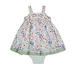 Monsoon - Green baby 'Jacquelina' dress and knicker