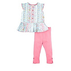 Monsoon - Pink baby 'Alina' blouse set