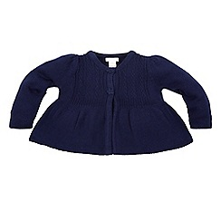 Monsoon - Blue baby 'Lady' bow cardigan