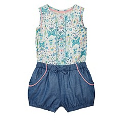 Monsoon - Multicoloured  Baby chloe chambray playsuit