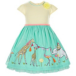 Monsoon - Green Baby jessy jungle 2 in 1 dress
