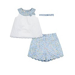 Monsoon - Blue baby 'Amelie' short set