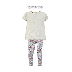 Monsoon - White Baby lilly lace top and legging set