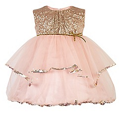 Monsoon - Pink baby 'Diana' dress