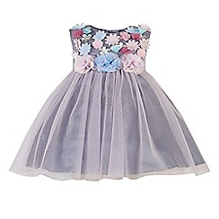 Monsoon - Purple baby 'Charlotte' dress