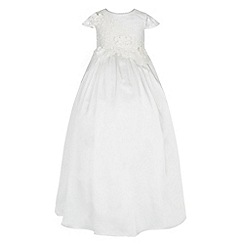 Monsoon - White Baby drew christening dress