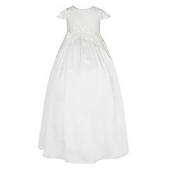 Monsoon - White Baby drew christening dress