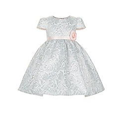 Monsoon - Silver Baby joyce jacquard dress