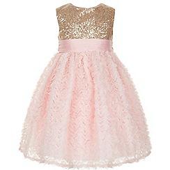 Monsoon - Pink Baby nova sequin dress