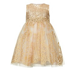 Monsoon - Gold Baby victoriana dress