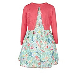 Monsoon - Multicoloured  Chirpee dress and cardigan