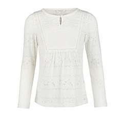 Monsoon - White Woody burnout top