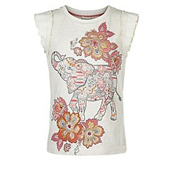 Monsoon - Brown Marigold elephant tee