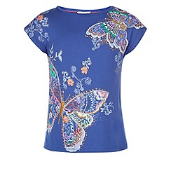 Monsoon - Blue Bonita butterfly top