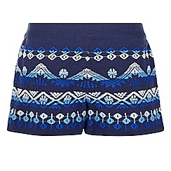 Monsoon - Multicoloured girl's 'Addy' embroidered shorts