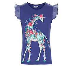 Monsoon - Blue Gilly giraffe tee