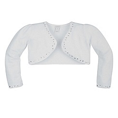 Monsoon - White girl's embellished cardigan