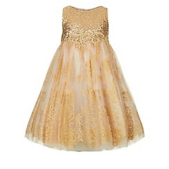 Monsoon - Gold Victoriana dress