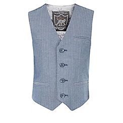 Monsoon - Blue Harvey waistcoat