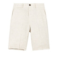 Monsoon - Grey Lawrence linen stone shorts
