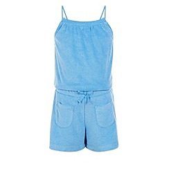 Monsoon - Blue Melissa towelling playsuit