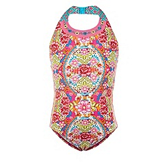 Monsoon - Pink Lotus halterneck swimsuit