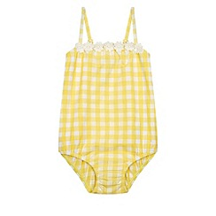 Monsoon - Yellow Baby gingham daisy swimsuit