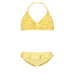 Monsoon - Yellow Storm frou frou frill bikini