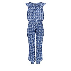 Monsoon - Blue Tallulah geo frill jumpsuit