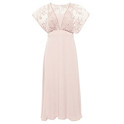 Monsoon - Pink Summer drop shoulder dress