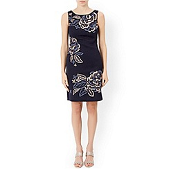 Monsoon - Blue Elda jacquard dress
